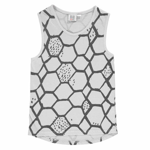 Beau Loves SS17 Grey Love Net Child's Racer Vest