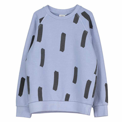 Beau Loves SS17 Chalk Blue Brushstroke Raglan Kid's Jumper