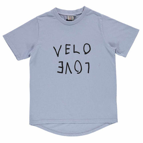 Beau Loves SS17 Chalk Blue Velo Love Short Sleeve Fin T-Shirt