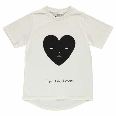 Beau Loves SS17 Vanilla Heart Face Kid's Short Sleeve Fin T-Shirt