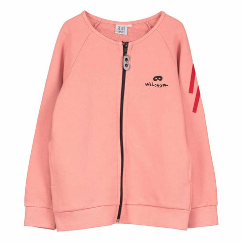 Beau Loves SS17 Coral Je T'aime Child's Zip Jacket