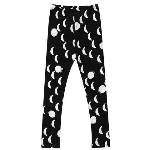 Beau Loves AW16 Jet Black Moons Leggings at Yellow Lolly