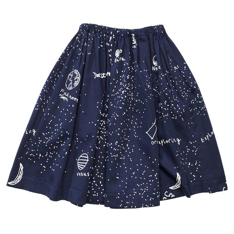 Beau Loves AW16 Midnight Blue Galaxy Swing Skirt