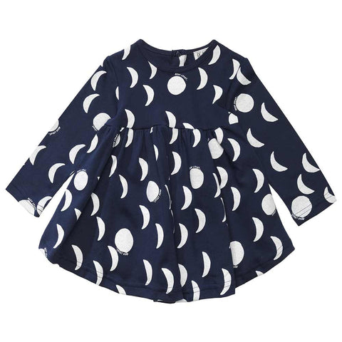 Beau Loves AW16 Moons, Midnight Blue Baby Dress at Yellow Lolly