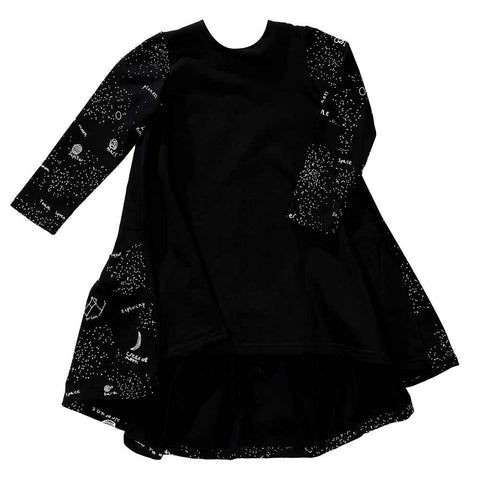 Beau Loves Aw16 Black Frill back Galaxy Luna Dress