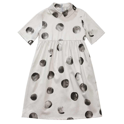 Beau Loves Aw16 Dove Grey Mr Moon Margo Collar Dress
