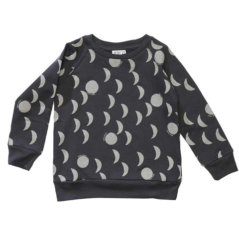 Beau Loves AW16 Charcoal Grey Moons Sweatshirt