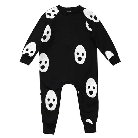 Beau Loves AW16  Ghosts Fleecy Romper at Yellow Lolly