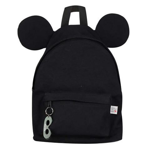 Beau Loves SS17 Inky Black Kid's Backpack With Ears At Yellow Lolly