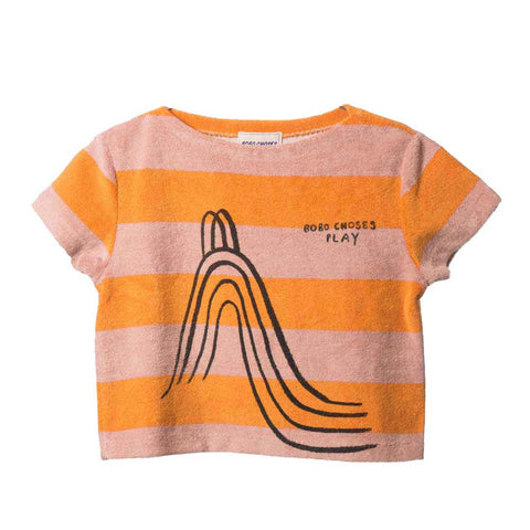 Bobo Choses Yellow Stripe Terry Top - Yellow Lolly