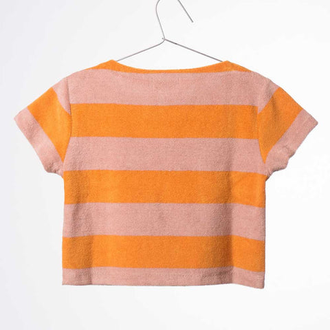 Back of Bobo Choses Yellow Stripe Terry Top - Yellow Lolly