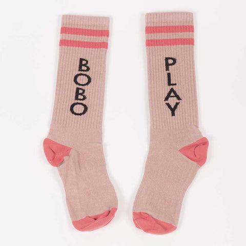 Bobo Choses Cream Play Tennis Socks - Yellow Lolly