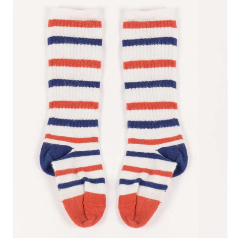 Bobo Choses Stripes Tennis Socks - Yellow Lolly