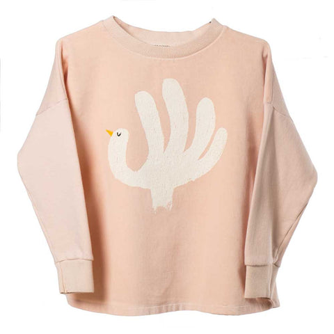 Bobo Choses Velvet Hand Trick Oversized Sweatshirt - Yellow Lolly