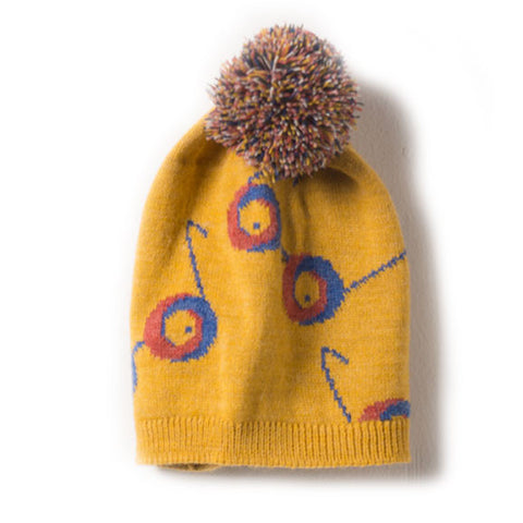 Bobo Choses Yellow Glasses Pom Pom Beanie Hat at Yellow Lolly