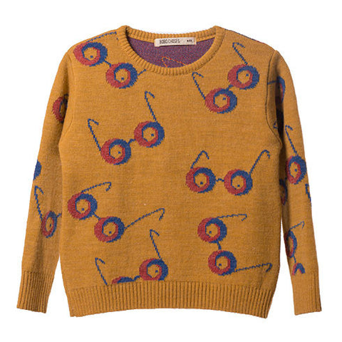 Bobo Choses AW16 Impossible Glasses Knitted Jumper at Yellow Lolly
