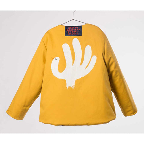 Back of reversed Bobo Choses Diamond Sky Reversible Jacket - Yellow Lolly