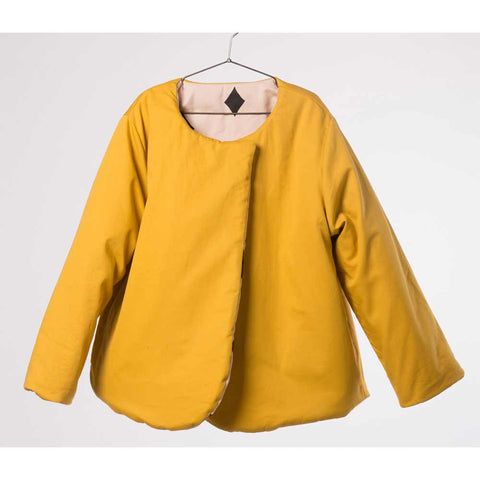 Reverse of Bobo Choses Diamond Sky Reversible Jacket - Yellow Lolly