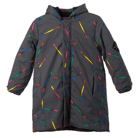Bobo Choses Charcoal Grey Magic Wands Hooded Anorak - Yellow Lolly