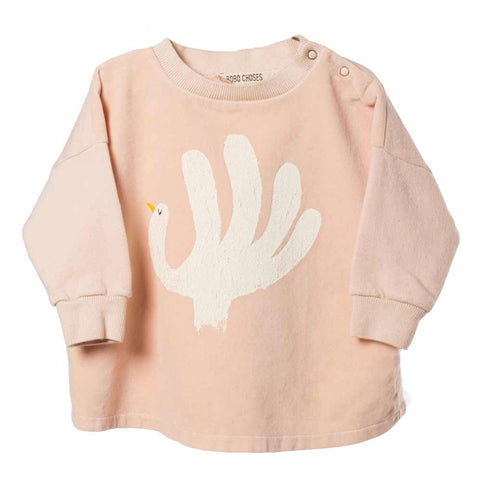 Bobo Choses Velvet Hand Trick Oversized Baby Sweatshirt - Yellow Lolly