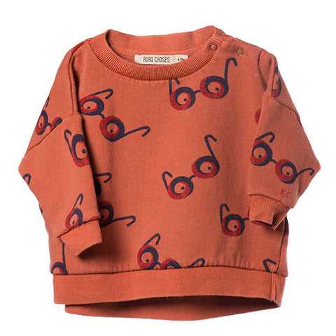 Bobo Choses AW16 Glasses Oversized Baby Sweatshirt at Yellow Lolly