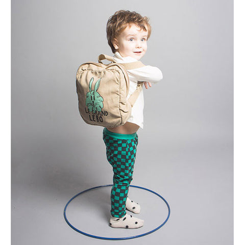 Boy Wearing Bobo Choses Bunny Backpack AW16