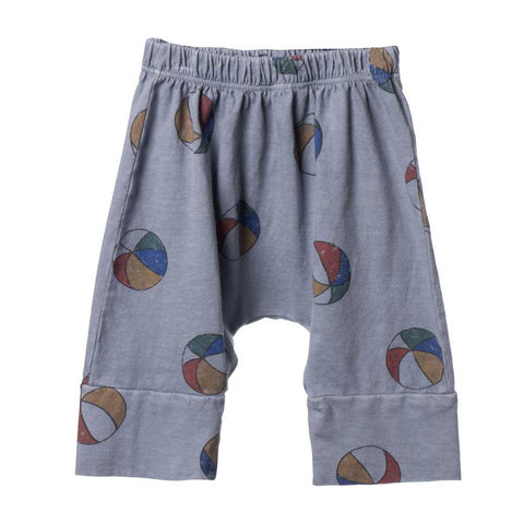 Bobo Choses Blue Basket Ball Baggy Baby Trousers - Yellow Lolly