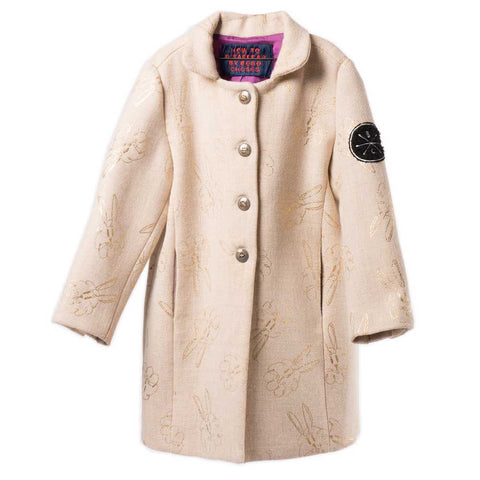 Bobo Choses AW16 Cream Gold Bunnies Flannel Coat