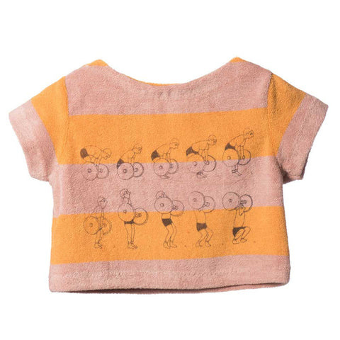Bobo Choses Yellow Stripe Terry Baby Top - Yellow Lolly