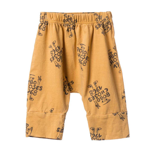Bobo Choses Yellow AO 1968 Baggy Baby Trousers - Yellow Lolly