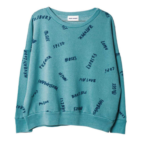 Bobo Choses Teal The Legends Sweatshirt - Yellow Lolly