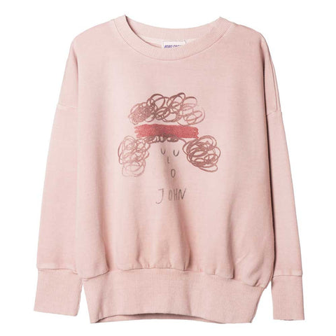 Bobo Choses Blush John Sweatshirt - Yellow Lolly