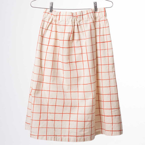 Back of Bobo Choses Cream Nets Buttoned Midi Skirt - Yellow Lolly
