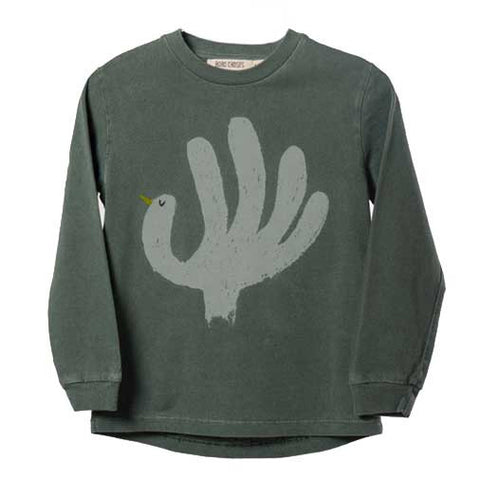 Bobo Choses AW16 Green Hand Trick T Shirt at Yellow Lolly