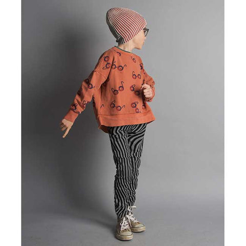Boy Wearing Bobo Choses Impossible Glasses Oversized Sweatshirt