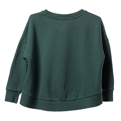 Bobo Choses Green Bunny Oversized Sweatshirt - Back View