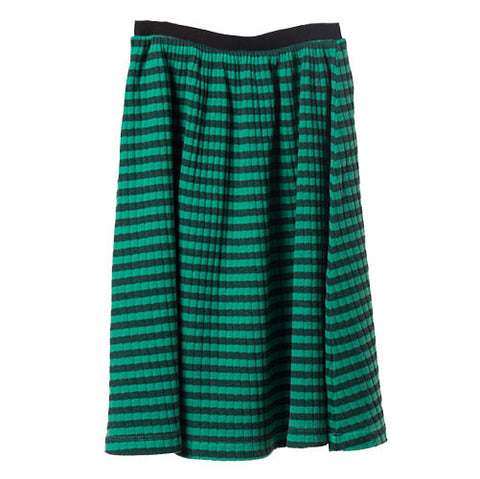 Bobo Choses AW16 Wide Rib Green Striped Midi Skirt at Yellow Lolly