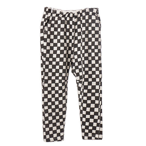 Bobo Choses AW16 Black & White Checked Joggers at Yellow Lolly