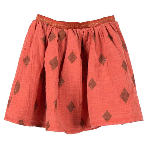 Bobo Choses Diamond Sky Flared Cheesecloth Skirt - Yellow Lolly