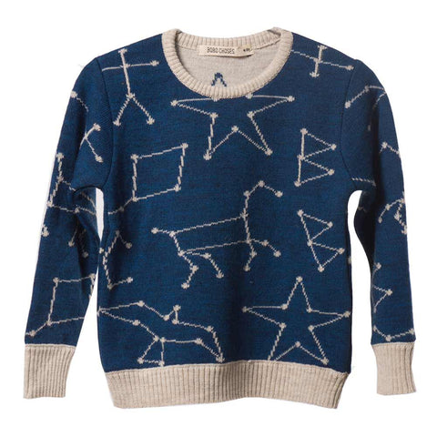 Bobo Choses Blue Constellation Knitted Jumper - Yellow Lolly