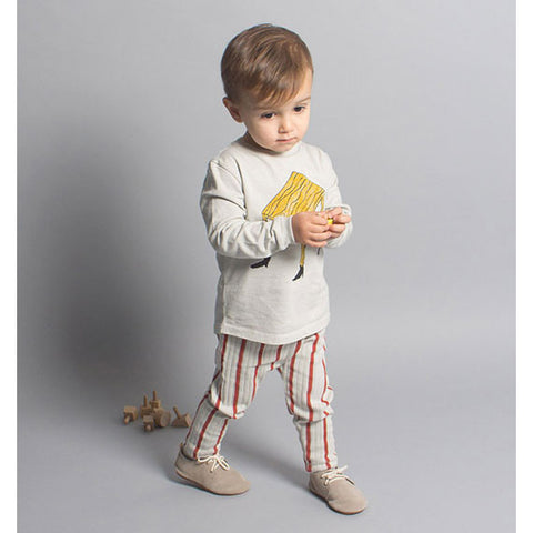 Boy Wearing Bobo Choses AW16 Wandering Desk Baby T Shirt