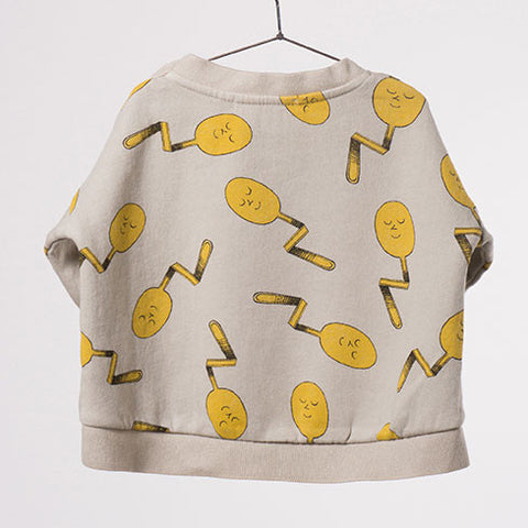 Bobo Choses Spoons Oversized Baby Sweatshirt - Back View