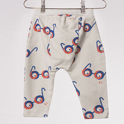 Bobo Choses All Over Glasses Baby Joggers, back view - Yellow Lolly