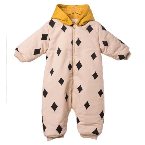 Bobo Choses Diamond Sky Baby Overall - Yellow Lolly