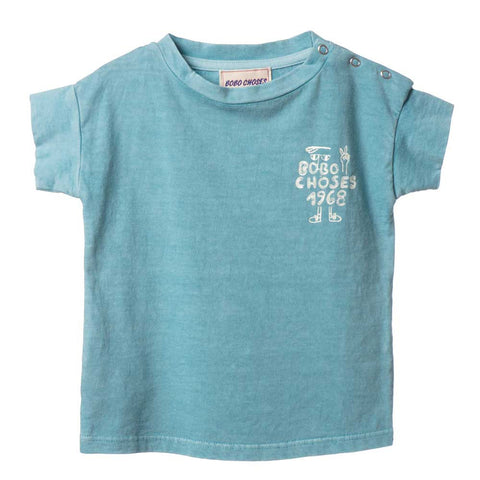 Bobo Choses Turquoise 1968 Baby T-Shirt - Yellow Lolly