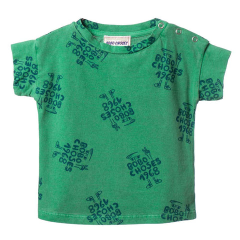 Bobo Choses Green AO 1968 Baby T-Shirt - Yellow Lolly