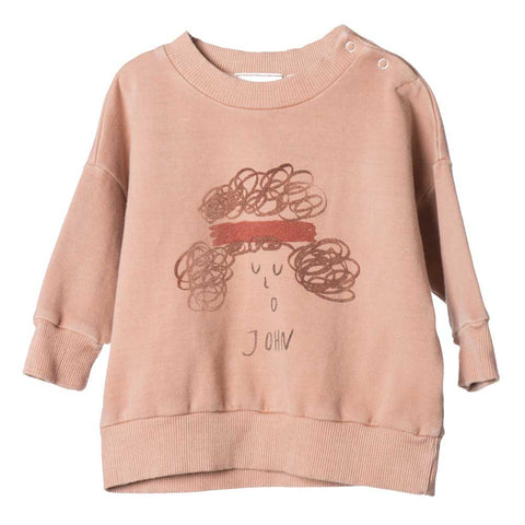 Bobo Choses Blush John Baby Sweatshirt - Yellow Lolly