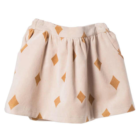 Bobo Choses Diamond Sky Velvet Skirt - Yellow Lolly