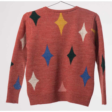 Back of Bobo Choses Red Magic Powers Knitted Jumper - Yellow Lolly