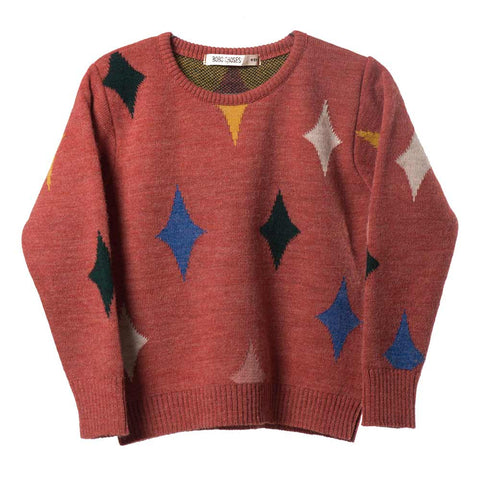 Bobo Choses Red Magic Powers Knitted Jumper - Yellow Lolly